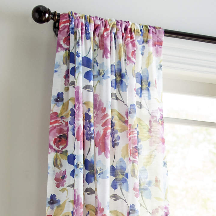 Watercolor Floral Sheer 108