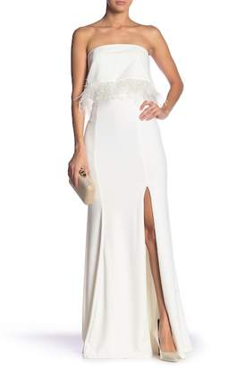 Jay Godfrey JAY X JAYGODFREY Osborne Feather Trim Scuba Gown