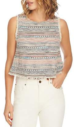 1 STATE 1.STATE Sleeveless Tweed Cropped Top