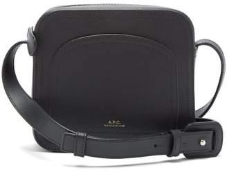 A.P.C. Louisette Leather Shoulder Bag - Womens - Black