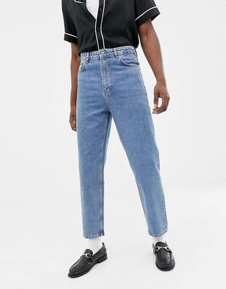 Asos Design DESIGN high waisted jeans in vintage mid wash blue