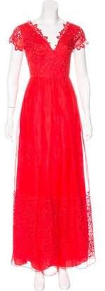 Alberta Ferretti Embroidered Silk-Blend Dress