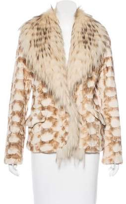 Mink Shawl Collar Coat