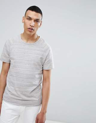 Selected T-Shirt In Marl Stripe