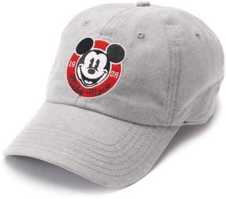 Disneys Mickey Mouse 90th Anniversary Women's Embroidered Denim Baseball Cap