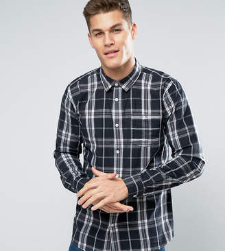 Jacamo TALL Check Shirt In Gray And Black
