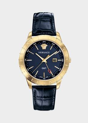 Versace Blue Leather Univers Watch