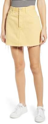 Boyish Jeans The Corey Frayed Denim Miniskirt