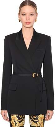 Versace Wool Stretch Blazer