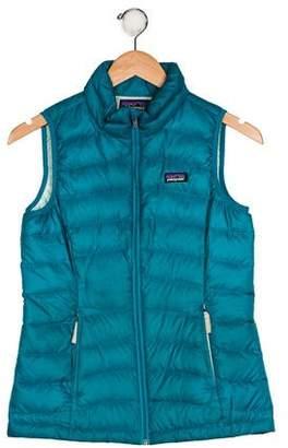Patagonia Girls' Down Zip-Up Vest
