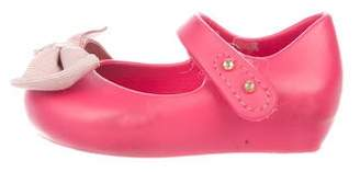 Mini Melissa Girls' Rubber Bow-Accented Flats