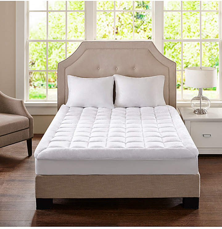 Madison Park Cloud Soft Queen Overfilled Plush Waterproof Mattress Pad