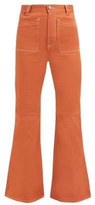 See by Chloe Topstitched Flared Jeans - Womens - Light Brown