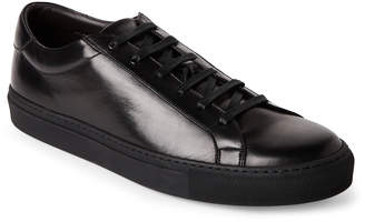 Bruno Magli Black Piave Leather Low-Heel Sneakers