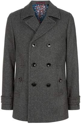 Ted Baker Grilld Wool Peacoat