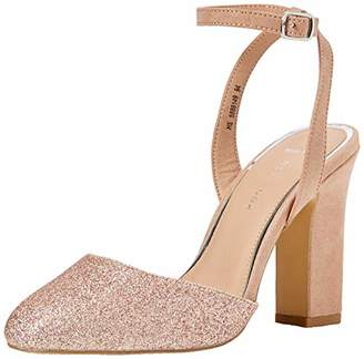 e622f12f79f New Look Women s Wide Foot Rolling Closed Toe Heels (Rose Gold 94)