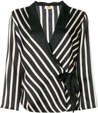 Liu Jo striped print fitted jacket