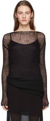 Ann Demeulemeester Black Corolla Pullover