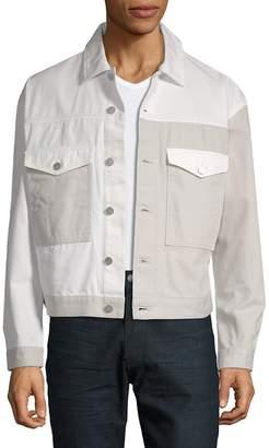 Calvin Klein Jeans Men's Colorblock Cotton Trucker Jacket