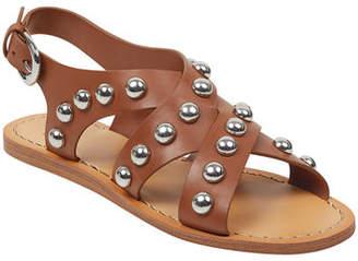 Marc Fisher Prancer Studded Flat Sandals