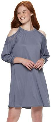 Mudd Juniors' Cupro Cold-Shoulder Dress
