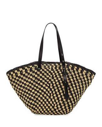 Rebecca Minkoff Fan Straw Shoulder Tote Bag