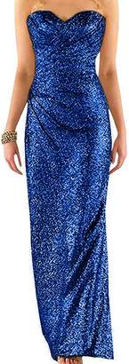 Ever Girl Women's Sweetheart Sequins Long Bridesmaid es Prom dresses Wedding Party Gown US