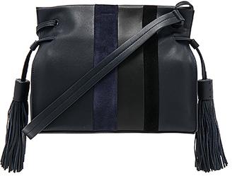 ALLSAINTS Casey Tassel Bag in Navy. $278 thestylecure.com