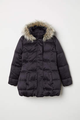 H&M Hooded Down Jacket - Black