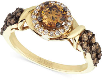 Le Vian Chocolatier Diamond (9/10 ct. t.w.) Engagement Ring in 14k Gold $4,601 thestylecure.com
