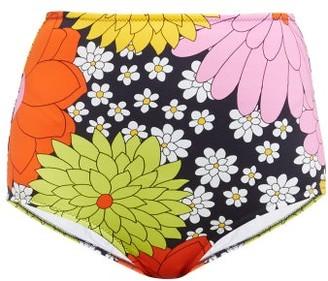 Dodo Bar Or Ceccile Floral Print Bikini Briefs - Womens - Navy Multi