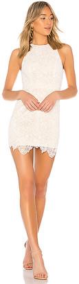 superdown Patty High Neck Crochet Dress