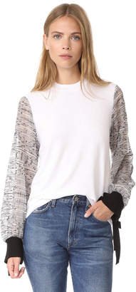 Clu Embroidered Sleeve Pullover $323 thestylecure.com