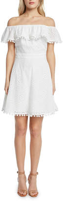 Willow & Clay Off-Shoulder Eyelet Dress