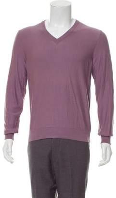 Maison Margiela V-Neck Ribbed Trim Sweater w/ Tags