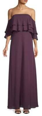 Calvin Klein Ruffled Off-The-Shoulder Popover Dress