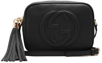 Gucci Soho Gg Small Leather Cross Body Bag - Womens - Black
