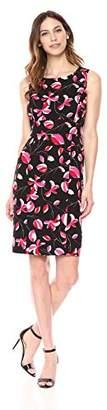 Kasper Women's Printed Blossom Sheath Dress
