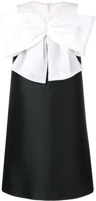 Paule Ka bow contrast dress