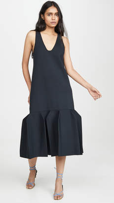 Tibi Sculpted Flare Long Dress