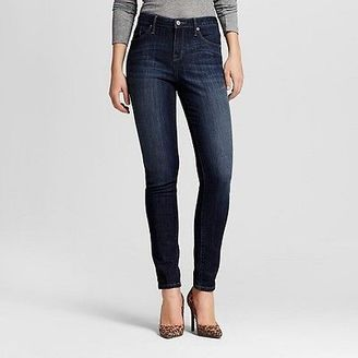 Women's Mid-rise Skinny Jeans (Curvy Fit) Dark Wash - Mossimo $27.99 thestylecure.com