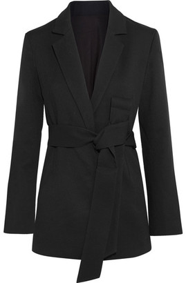Totême Stary Belted Crepe Blazer - Black