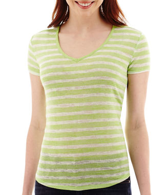A.N.A a.n.a Striped Short-Sleeve V-Neck T-Shirt $26 thestylecure.com