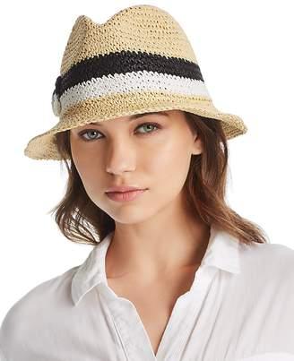 Kate Spade Crochet Bicolor Bow Trilby Hat