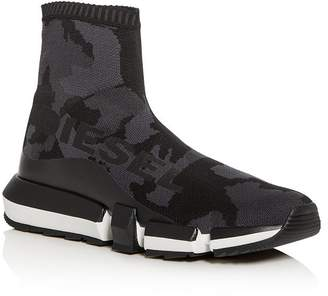 Diesel Men's H-Padola Camo Knit High-Top Sneakers