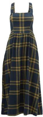 Ace&Jig Willa Crossed Back Checked Cotton Dress - Womens - Navy Multi