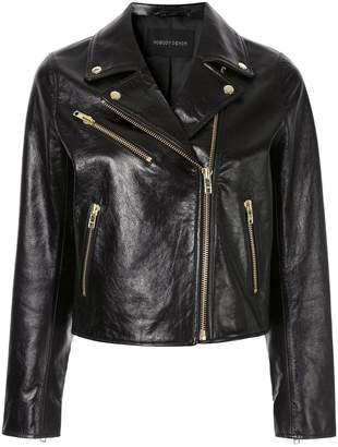 Nobody Denim high-shine leather jacket