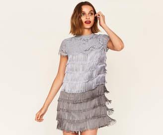 Oasis OMBRE FRINGE SHIFT DRESS