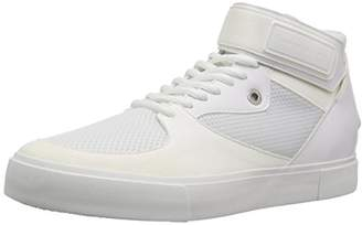 Armani Exchange A|X Men's High Top Sneaker with Ankle Strap and Mesh Detail
