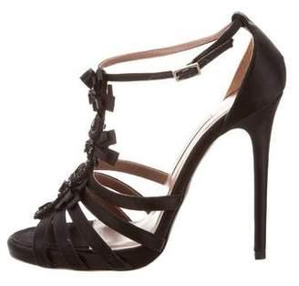 Tabitha Simmons Embellished Satin Sandals